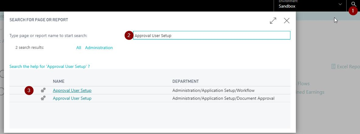 How to setup workflow in Dynamics 365 Business Central